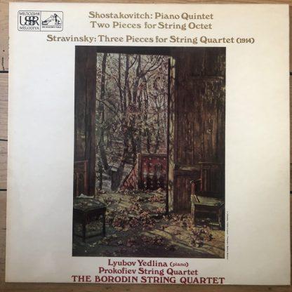 ASD 3072 Shostakovich Piano Quintet, etc. / Stravinsky 3 Pieces / Borodin Quartet
