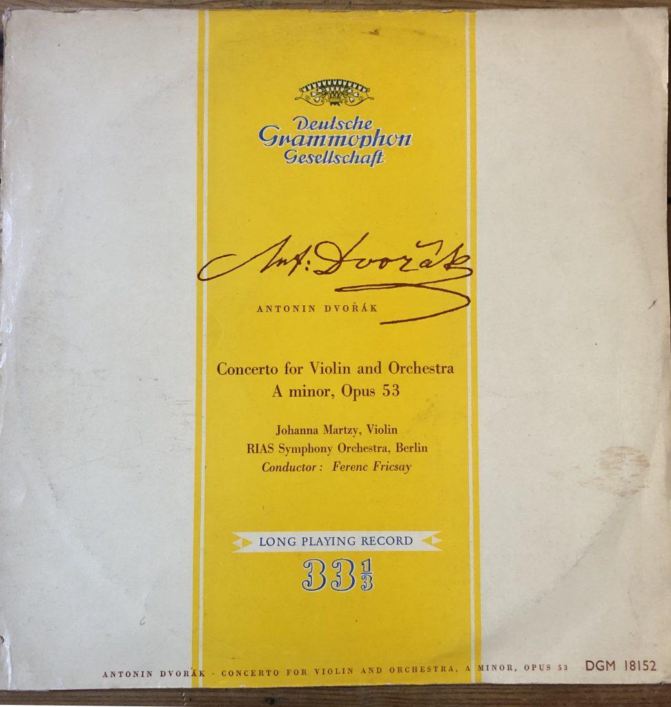 DGM 18152 Dvorak Violin Concerto / Johanna Martzy