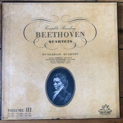 ANGEL 3514D Beethoven String Quartets Vol. III