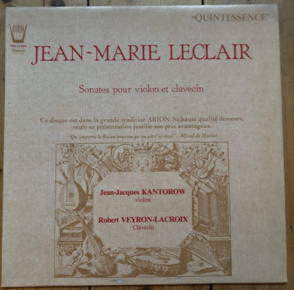 ARN 31946 Leclair Violin Sonatas / Jean-Jaques Kantorow