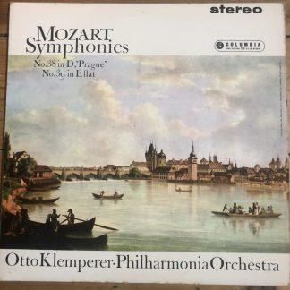 SAX 2468 Mozart Symphonies Nos. 38 'Prague' & 39 / Klemperer / Philharmonia B/S