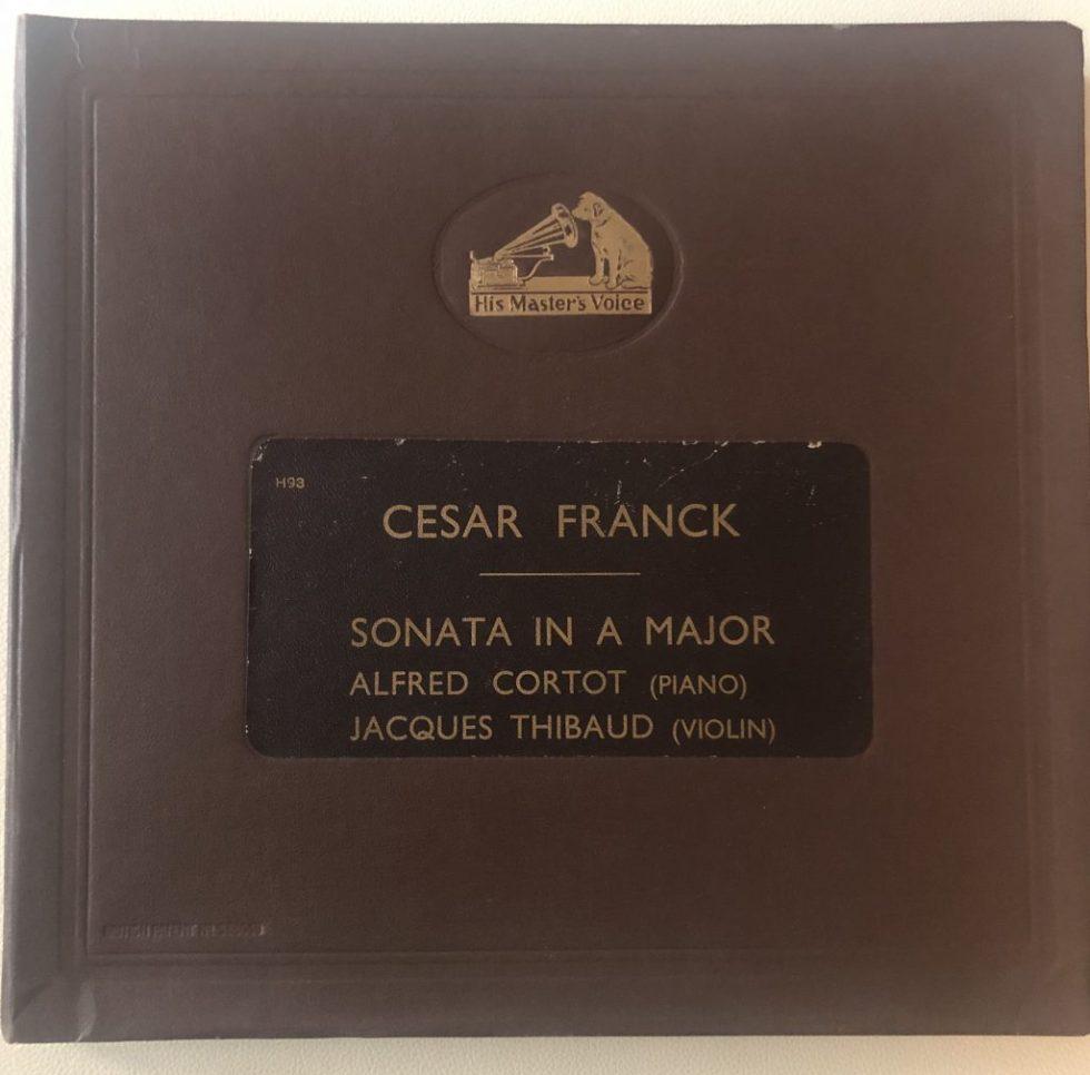 DB 1347-50 Franck Violin Sonata / Jaques Thibaud