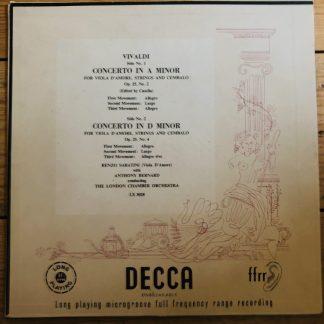 LX 3028 Vivaldi Concertos for Viola D'Amore