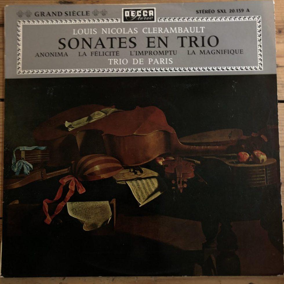 SXL 20.139 Clérambault Sonates En Trio