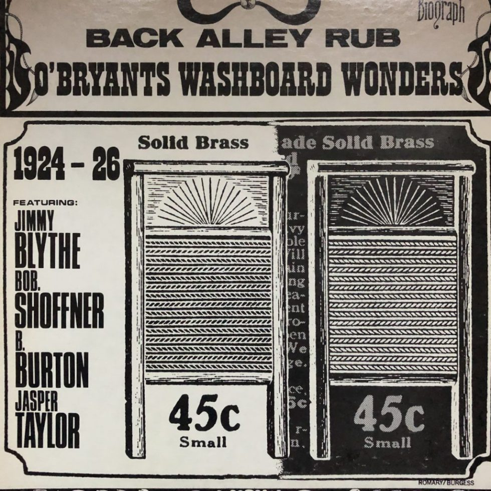BLP 12002 Back Alley Rub O'Bryants Washboard Wonders
