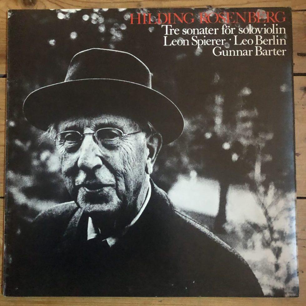 RIKS LP 10 Hilding Rosenberg Tre Sonater För Soloviolin