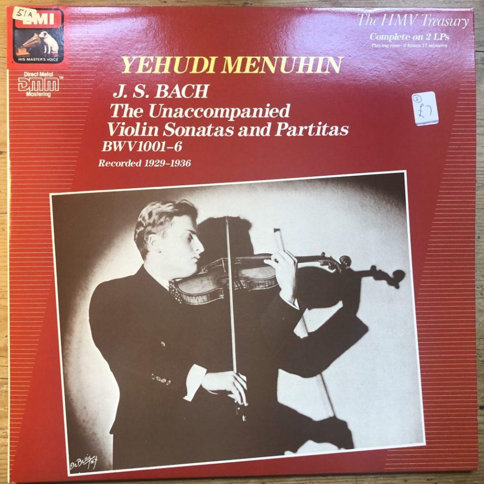 EX 7 69377 1 Bach Unaccompanied Sonatas & Partitas / Menuhin 2 LP set