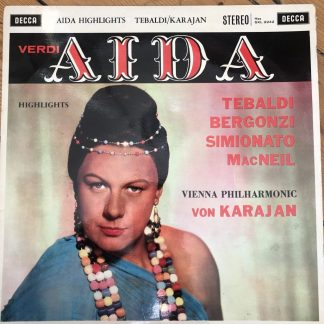SXL 2242 Verdi Aida (highlights) / Tebaldi, etc. / Karajan / VPO W/B