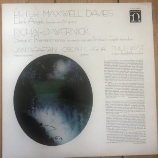H-71342 Maxwell Davies Dark Angels / Wernick Songs of Remembrance