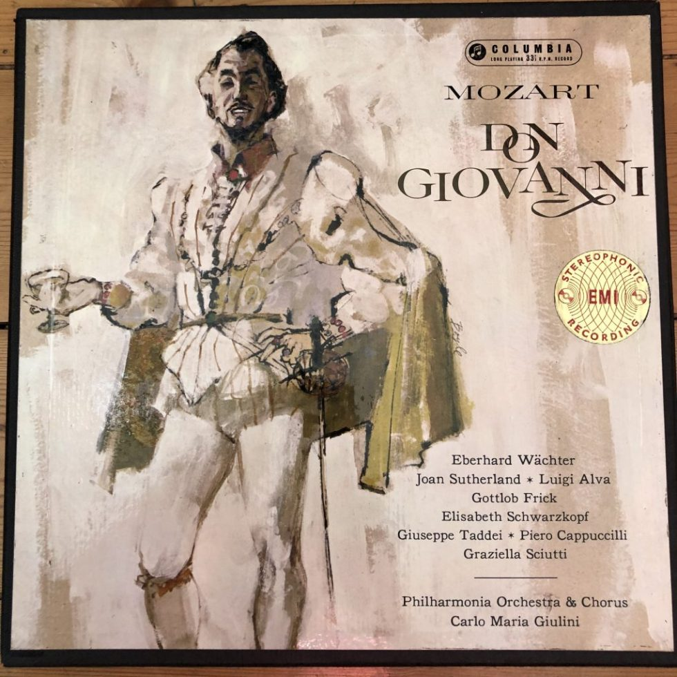 SAX 2369-72 Mozart Don Giovanni / Wachter / Giulini etc. E/R 4 LP box