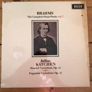 SXL 6218 Brahms Piano Works Vol. 7 / Katchen W/B