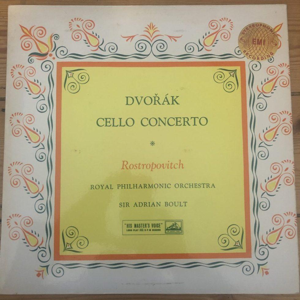 ASD 358 Dvorak Cello Concerto / Rostropovich / Boult W/G