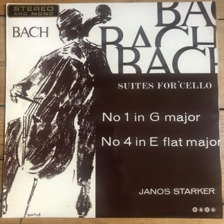 XID 5167 Bach Suites For Unaccompanied Cello Nos. 1 & 4 / Janos Starker