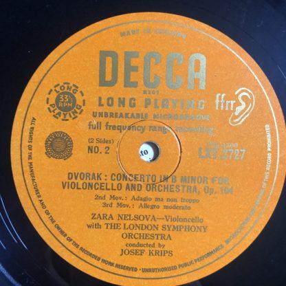LXT 2727 Dvorak Cello Concerto