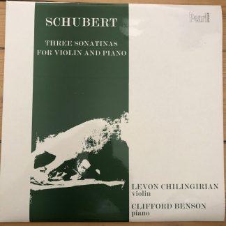 SHE 503 Schubert Sonatinas For Violin & Piano Levon Chilingirian Clifford Benson