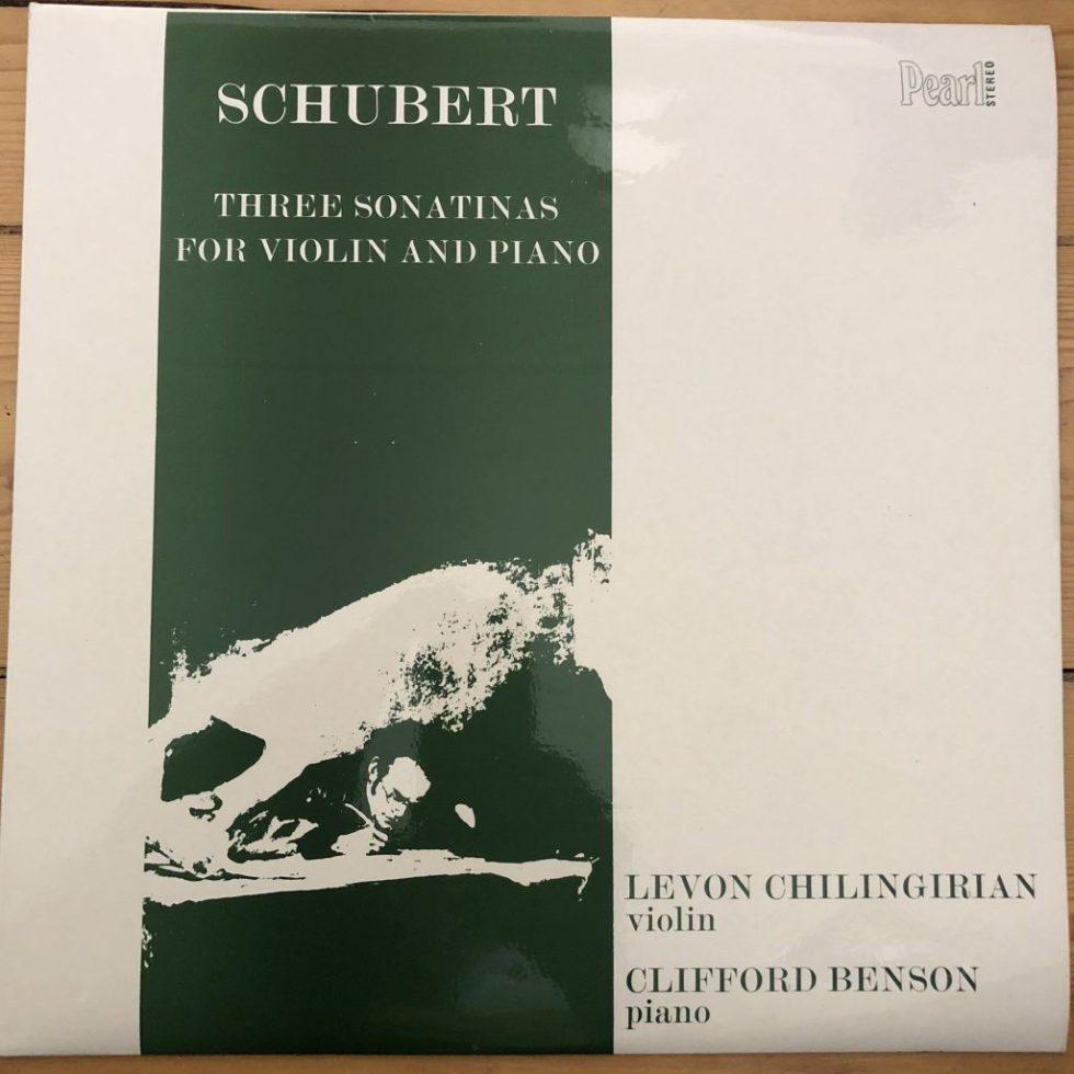SHE 503 Schubert Sonatinas For Violin & Piano Levon Chilingirian Clifford Benson