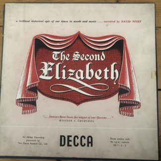 SX 1-2-3 The Second Elizabeth / David Niven 3 78 rpm box set