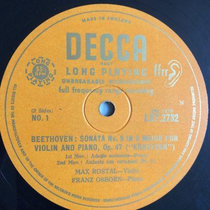 LXT 2732 Beethoven Violin Sonata No. 9 /