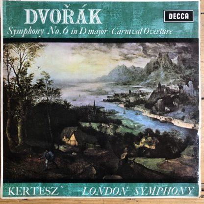 SXL 6253 Dvorak Symphony No. 6, Carnival Overture / Kertesz / LSO W/B