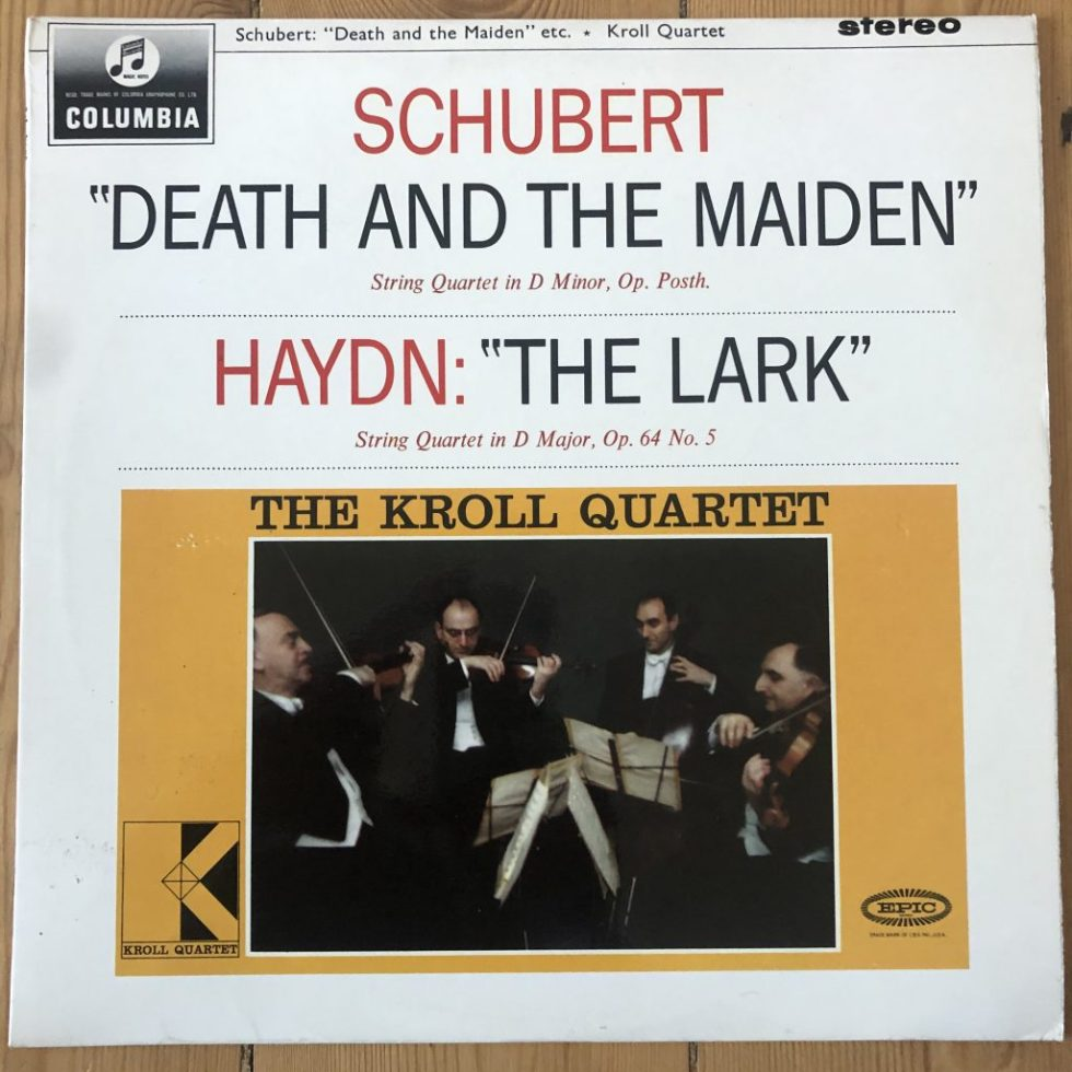 "SAX 2519 Schubert ""Death & the Maiden"" / Haydn ""Lark' / Kroll Quartet B/S"