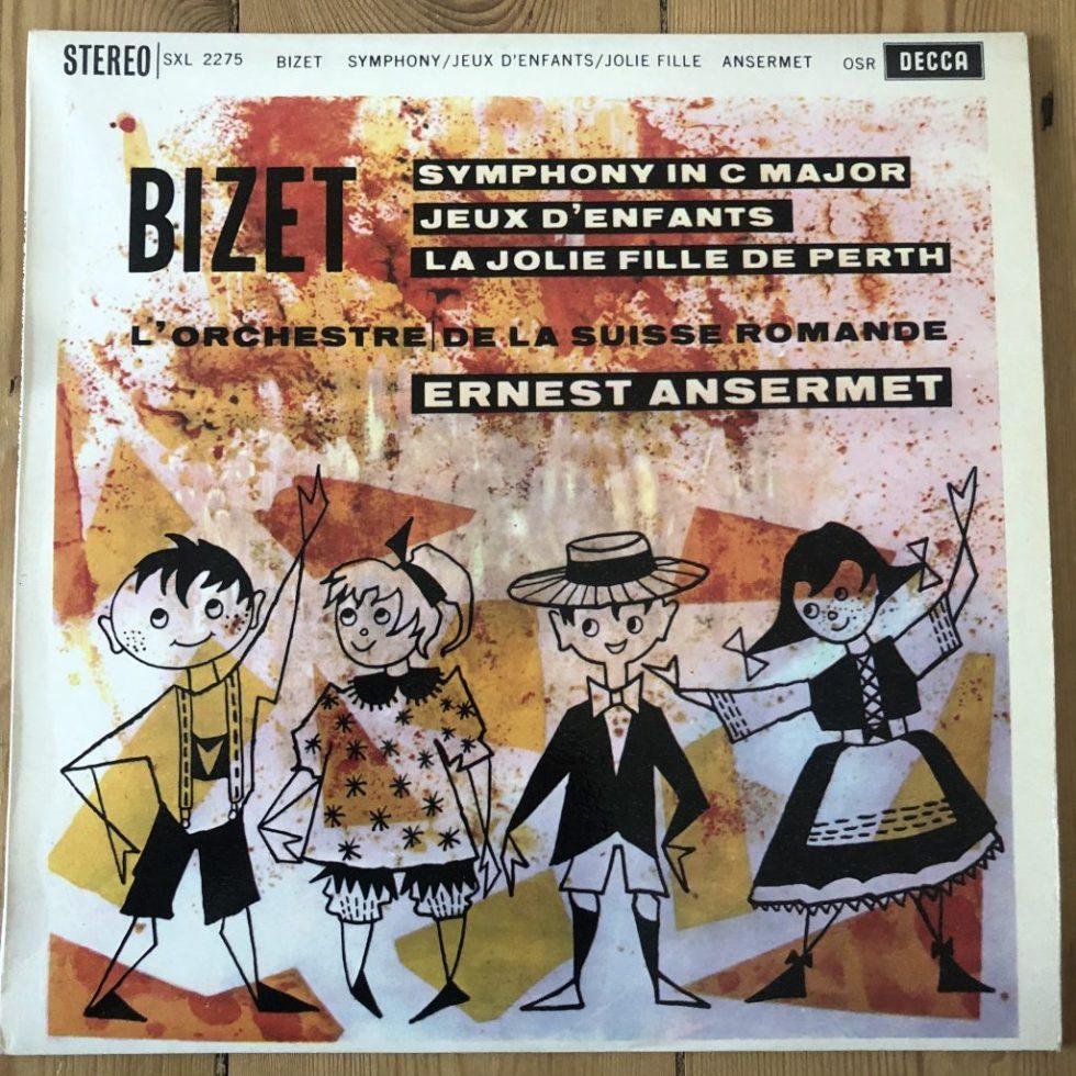 SXL 2275 Bizet Symphony / Jeux / Jolie Fille / Ansermet / OSR W/B