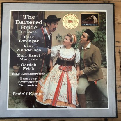 ASD 522-4 Smetana The Bartered Bride / Lorengar / Kempe W/G 3 LP box
