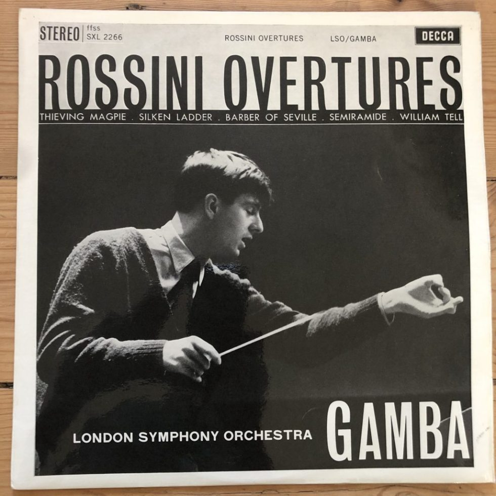 SXL 2266 Rossini Overtures / Gamba / LSO W/B