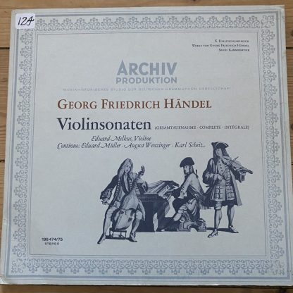 198 474/75 Handel Violin Sonatas / Eduard Melkus