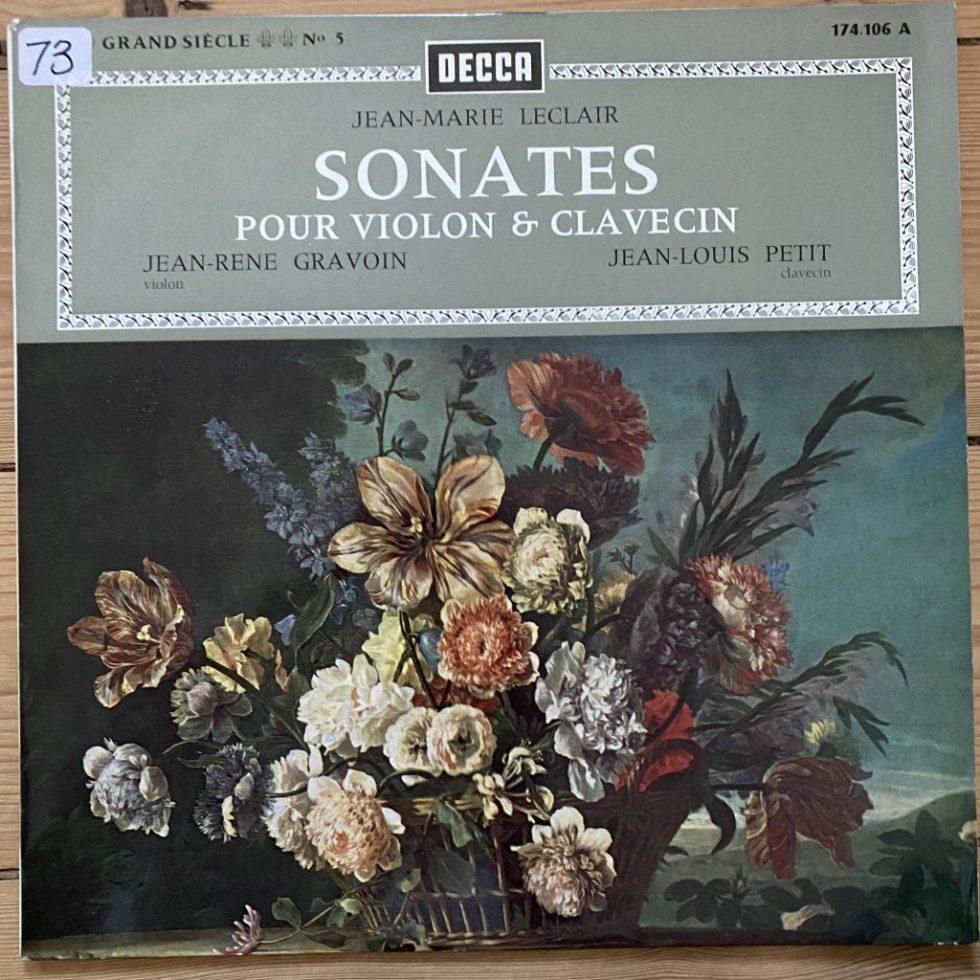174.106 Jean-Marie Leclair Sonates Pour Violon & Clavecin