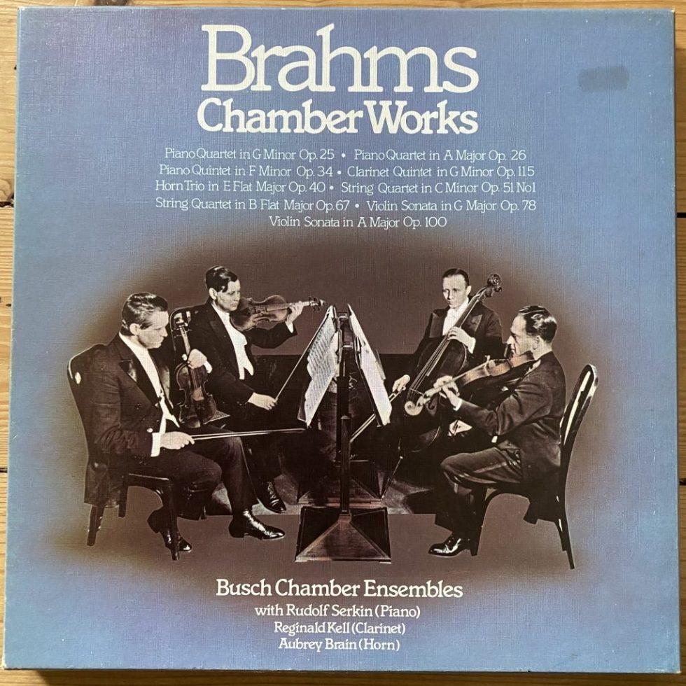 SHB 61 Brahms Chamber Works / Busch Chamber Ensembles 7 LP box