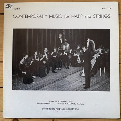 MHS 3370 Contemporary Music For Harp and strings / Astrid von Wurtzler