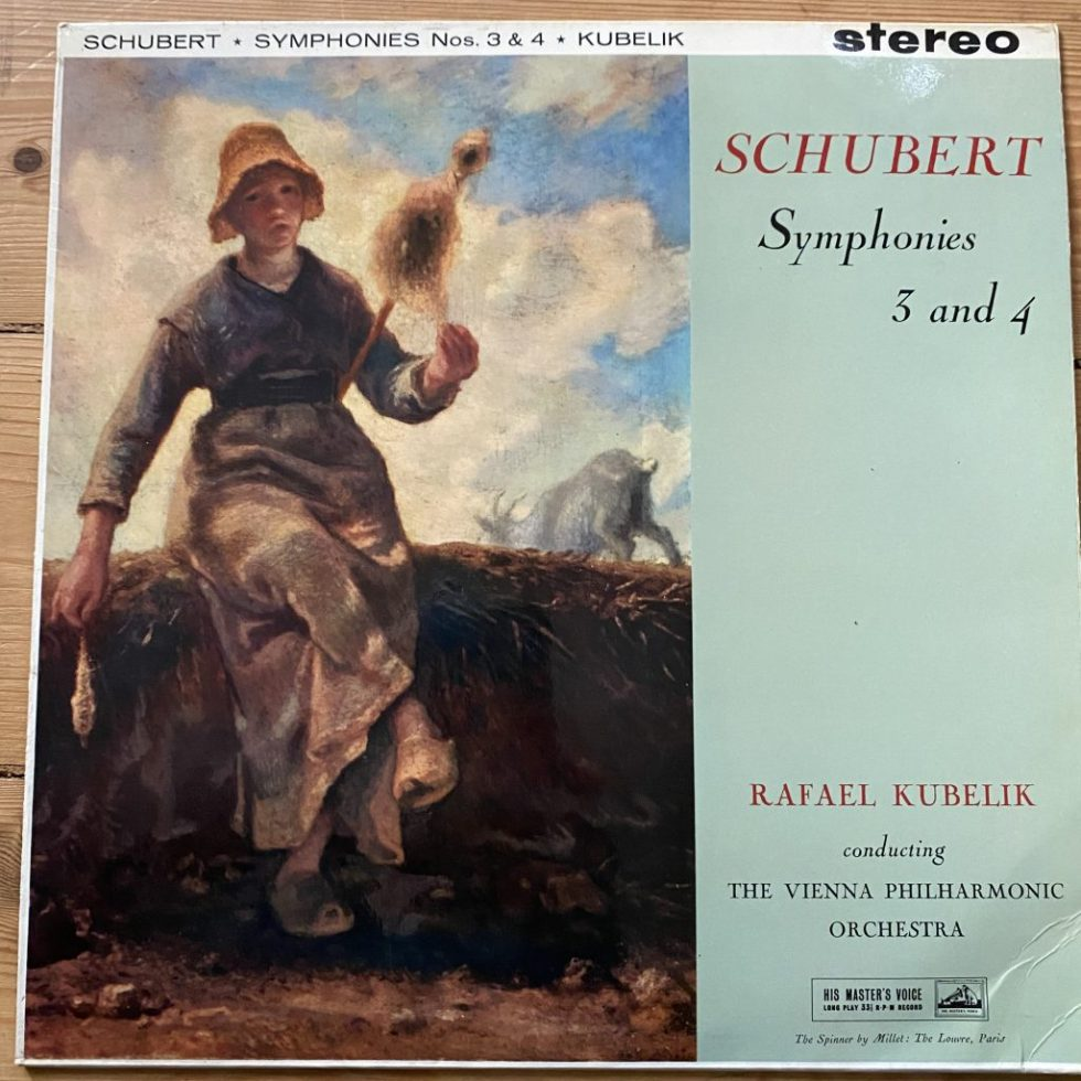 ASD 418 Schubert Symphonies 3 & 4 / Rafael Kubelik / VPO W/G