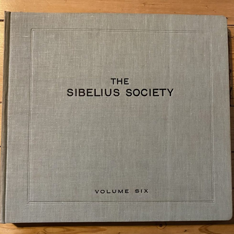 DB 8710/16 Sibelius Society Volume 6