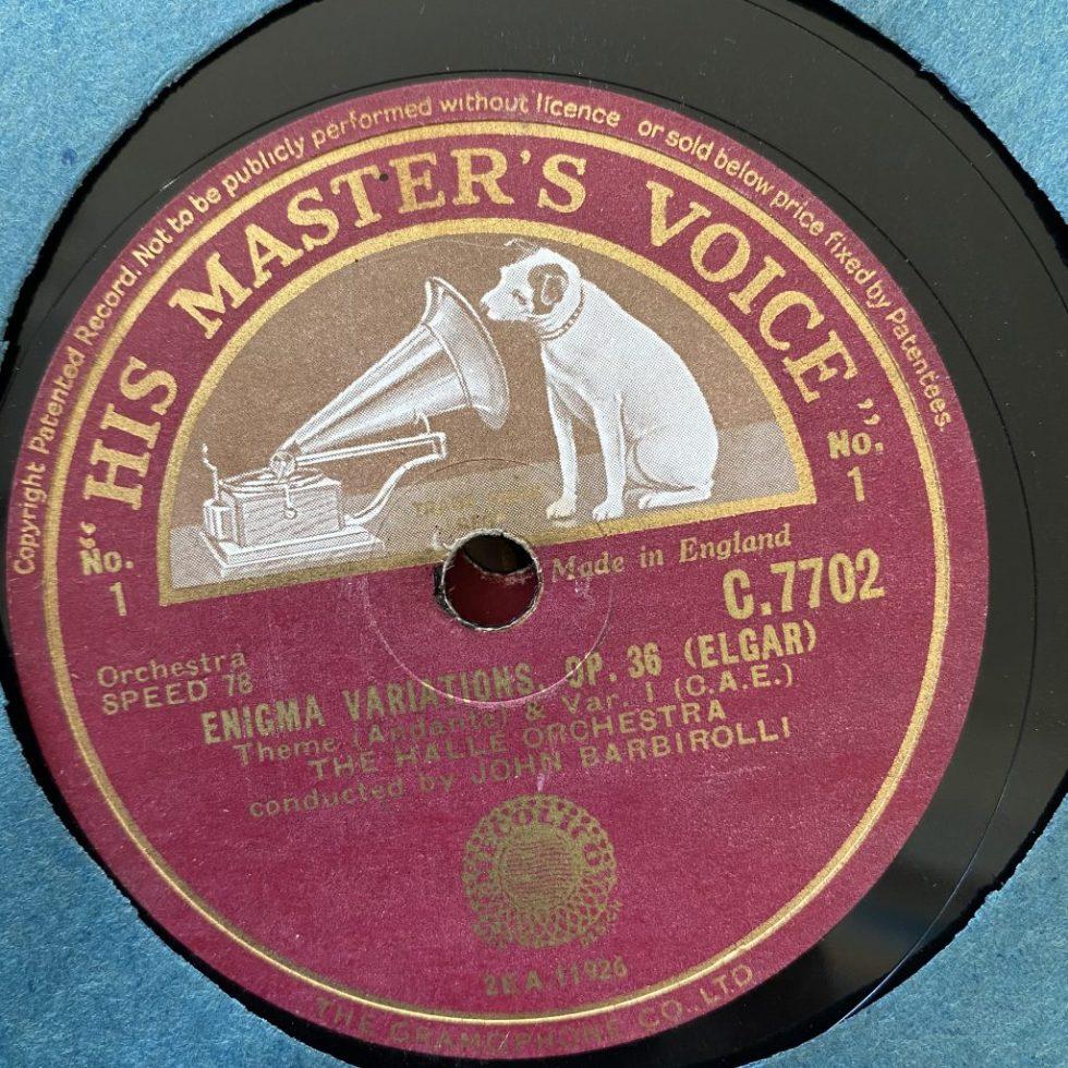 C 7702/05 Elgar Enigma Variations / Barbirolli / Halle Orch