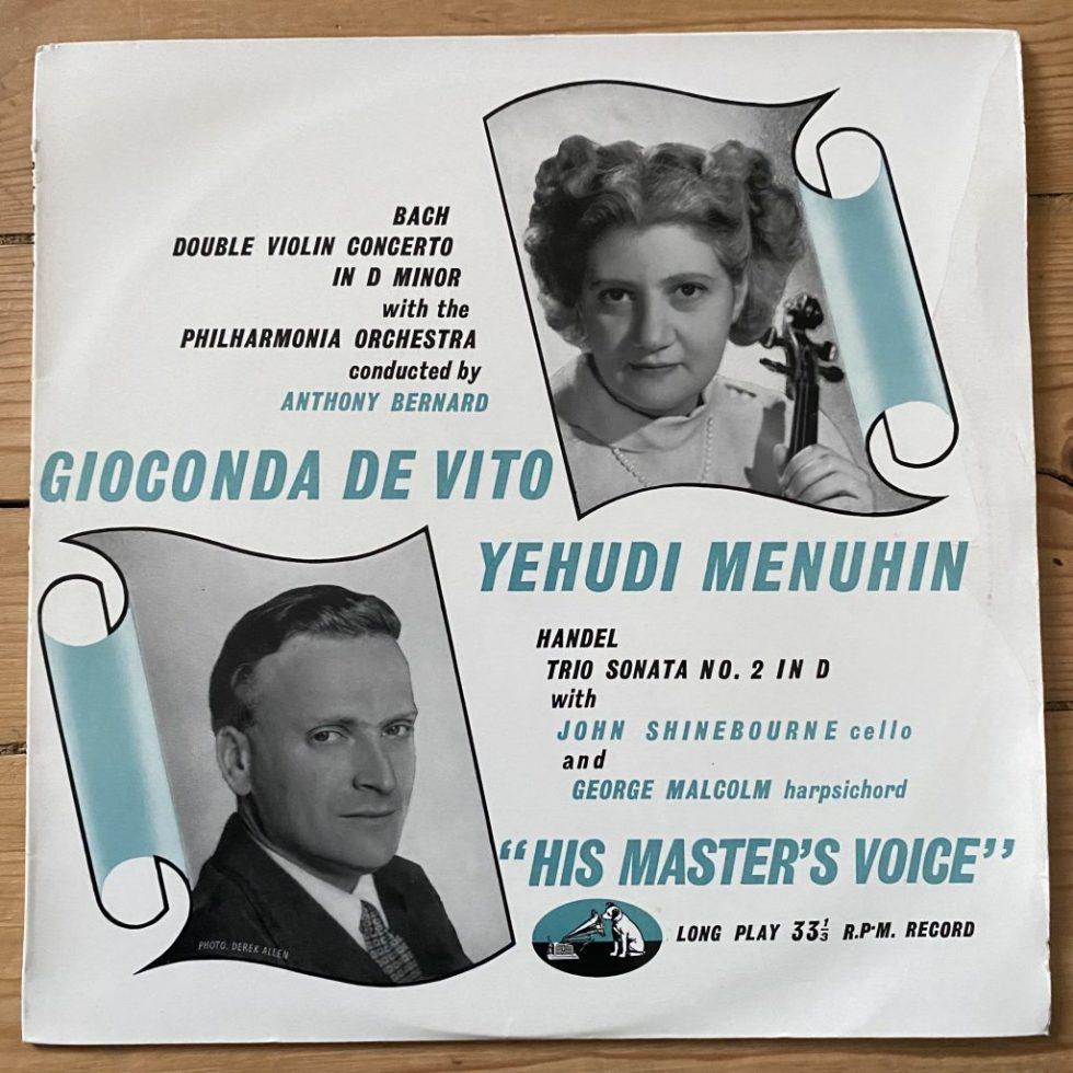 BLP 1046 Bach Double Violin Concerto / De Vito