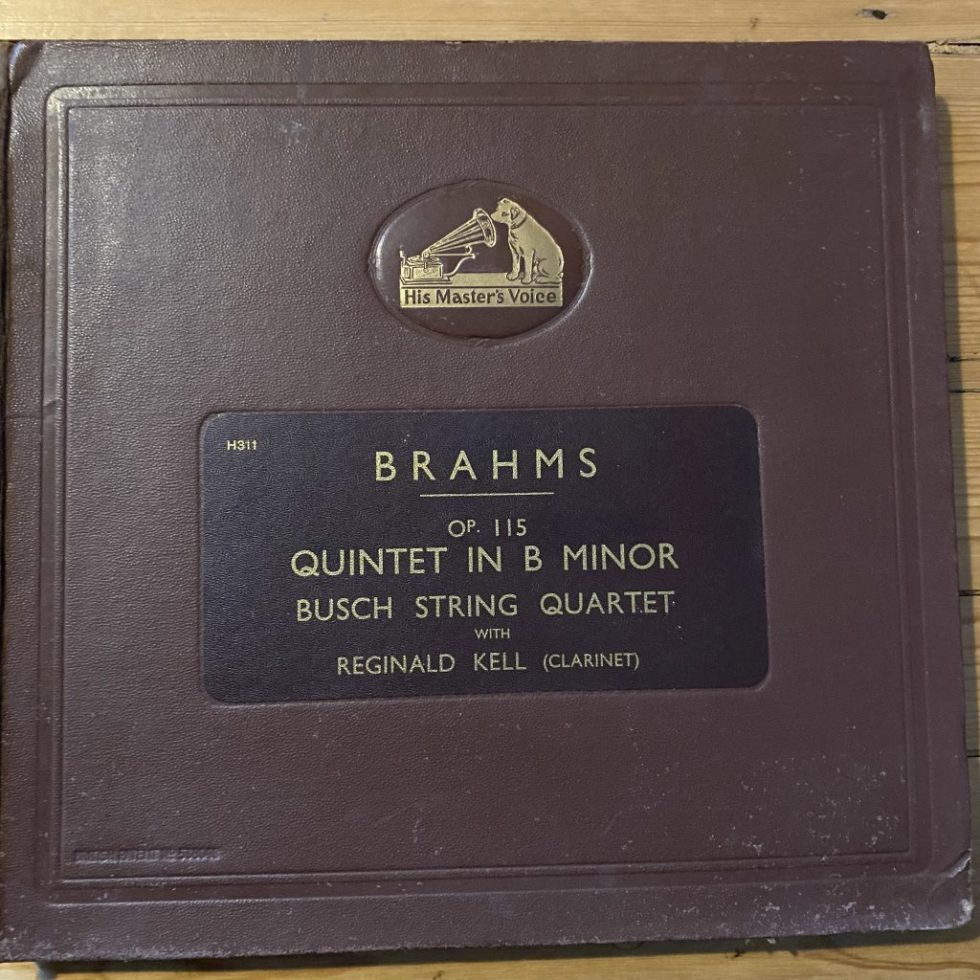 DB 3385/86 Brahms Quinet in B min
