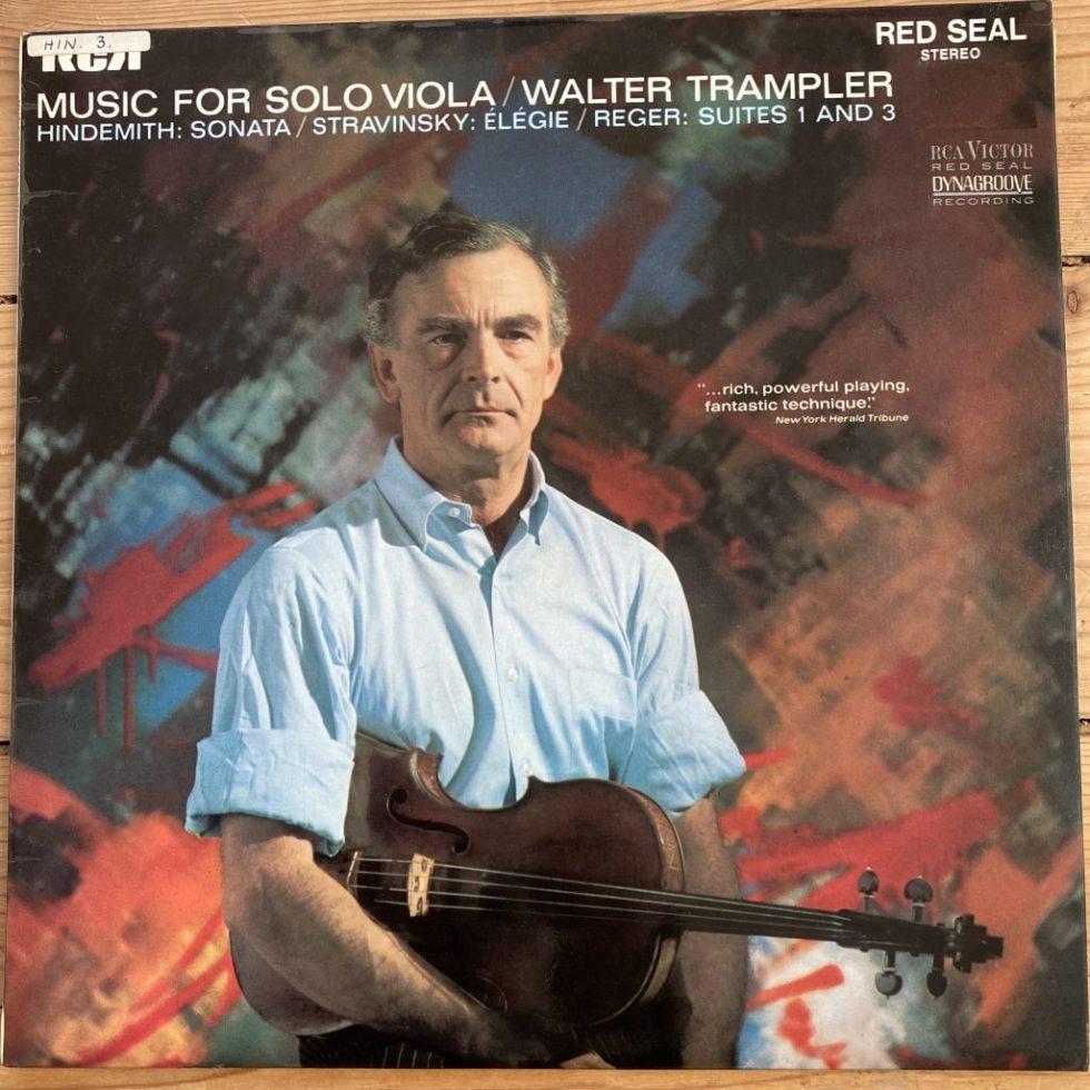 SB 6789 Music For Solo Viola / Walter Trampler