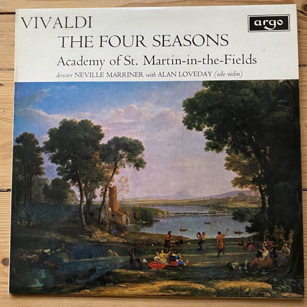 ZRG 654 Vivaldi The Four Seasons / Alan Loveday / Marriner / ASMF OVAL