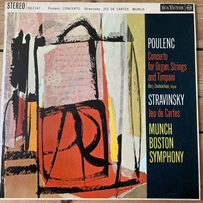 SB 2147 Poulenc Concerto for Organ, String & Timpani