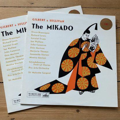 ASD 256-7 Gilbert & Sullivan The Mikado / Sargent W/G 2 LP set