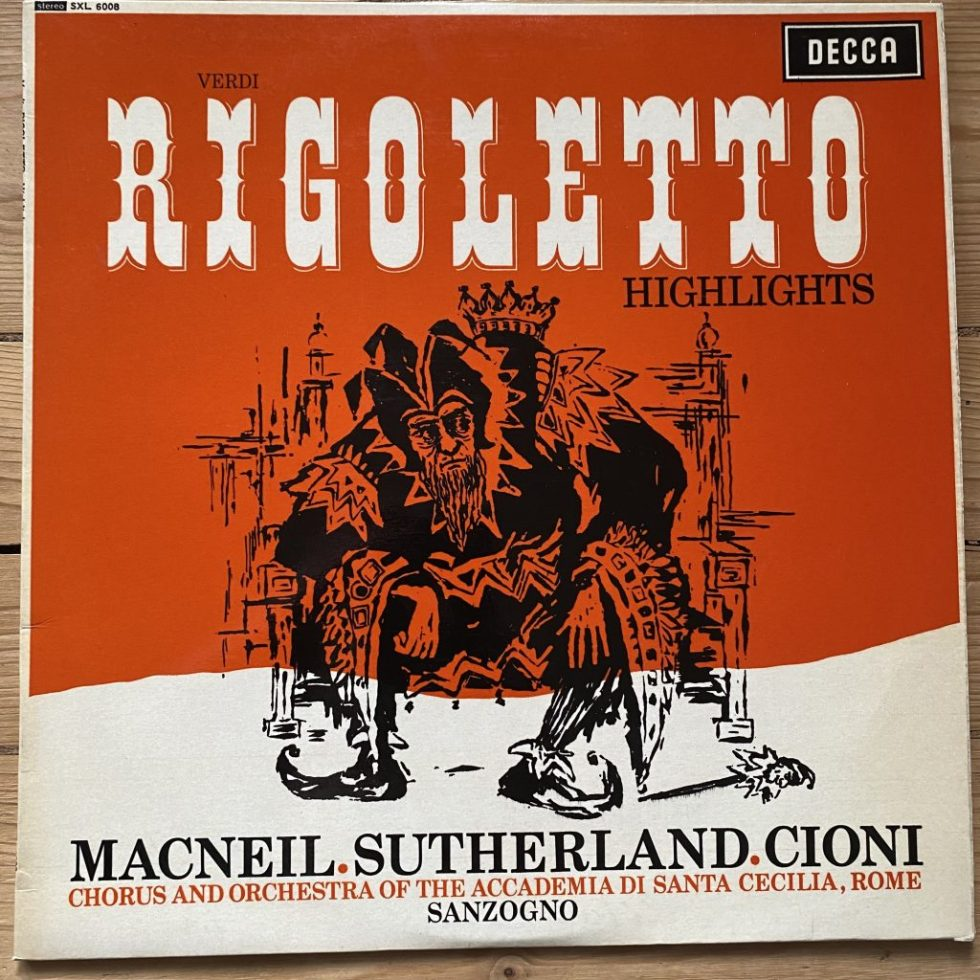 SXL 6008 Verdi / Rigoletto Highlights / Macneil / Sanzongo W/B