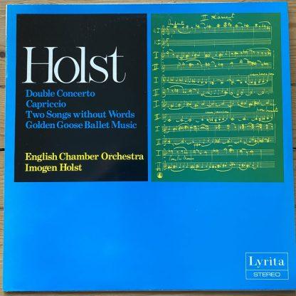 SRCS. 44 Holst Double Concerto / Hurwitz / Sillito / Holst / ECO