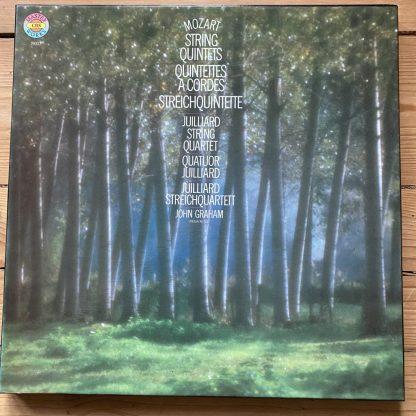 79322 Mozart String Quintets / Juilliard String Quartet 3 LP box
