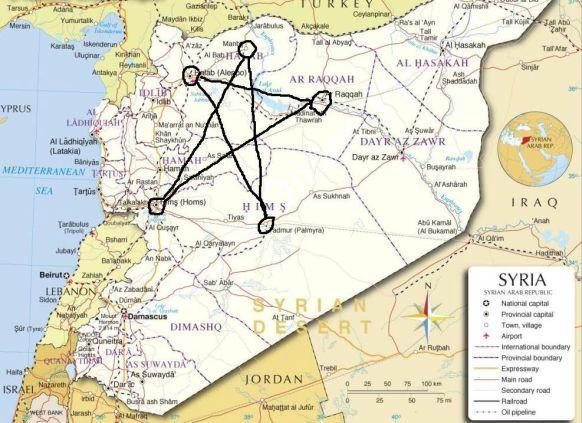 Syrien pentagramme en grand