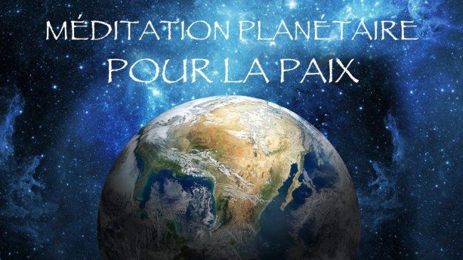 Méditation mondiale pour la Paix dans la nuit du 15 au 16 Avril 2018, partagez en masse !