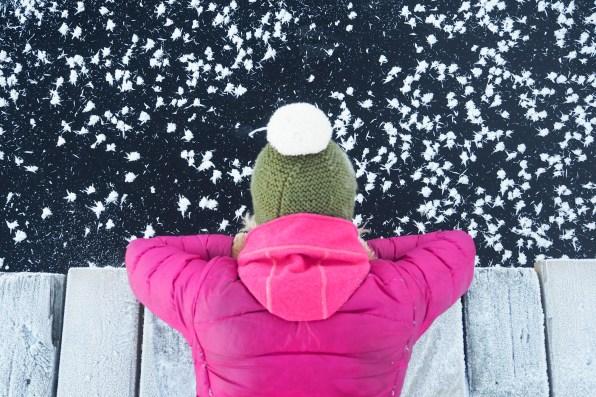 Frozen lake Näsijärvi, Tampere, Southern Finland