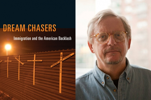 """Cover of """"Dream Chasers"""" (MIT Press) and author John Tirman"""