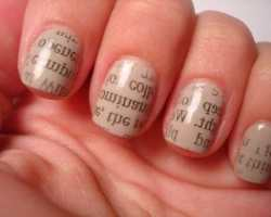 Highly Educated SocietyGirls Read News Paper on Their Nails