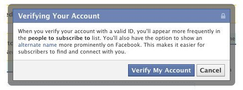 Facebook- profiles and certificates nickname