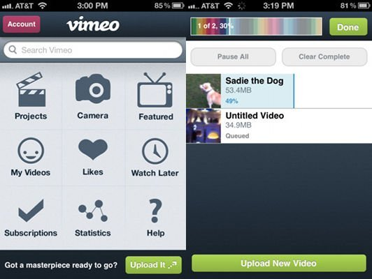 Vimeo updates its application for IOS, and version 2.0 is here